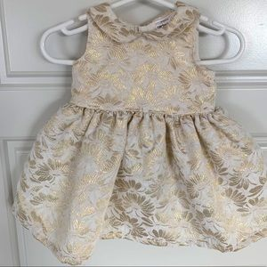 Carters Champagne dress size 3 months